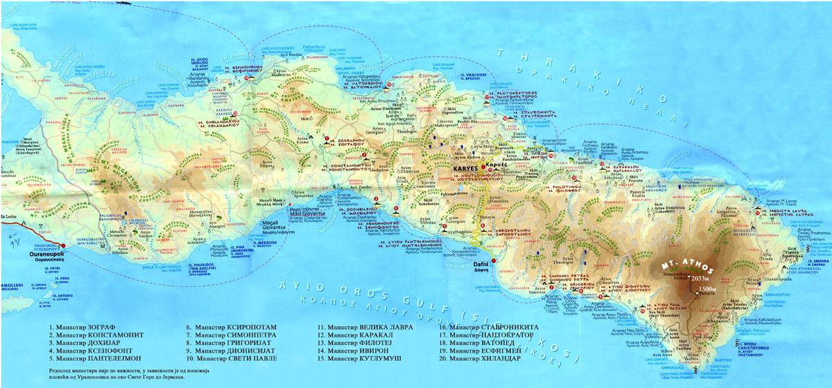 sveta gora mapa MANASTIR LEPAVINA   SRPSKA PRAVOSLAVNA CRKVA sveta gora mapa