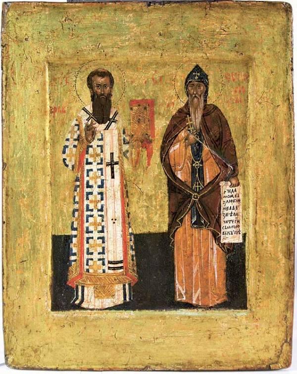 Ikona svetog Save i Simeona, 16. vek